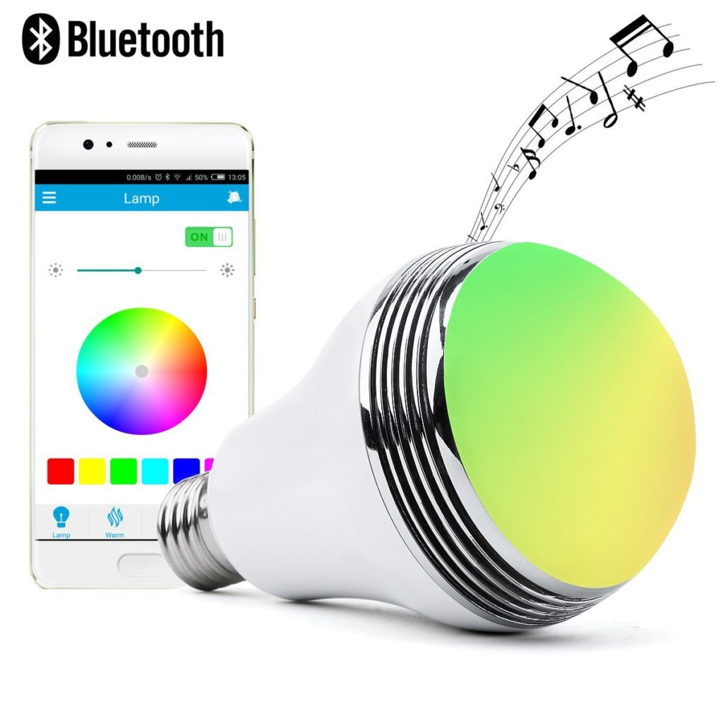 Autai LED Light Bulb with Smart Bluetooth Speaker