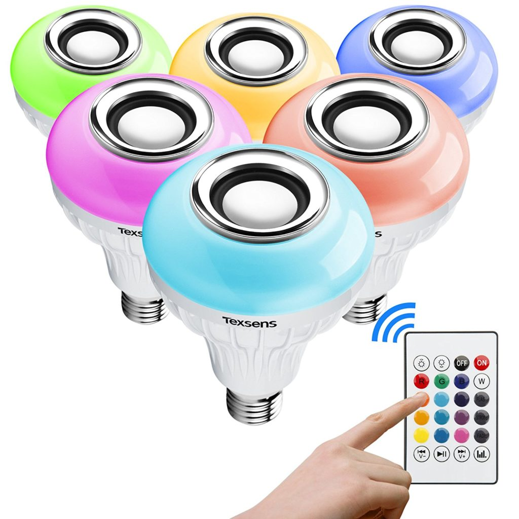 Texsens LED Bluetooth Light Bulb Speaker Colors
